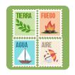 Agua, tierra, fuego y aire: las cuatro partes del todo